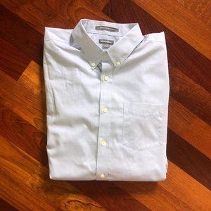 Eddie Bauer size TL light blue men's dress shirt